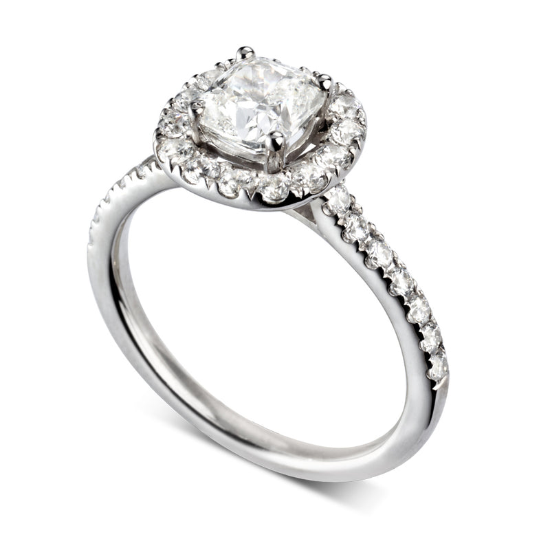 Cushion Cut Diamond Halo - JQD1024