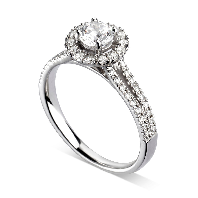 Round Halo Engagement Ring - JQD1011