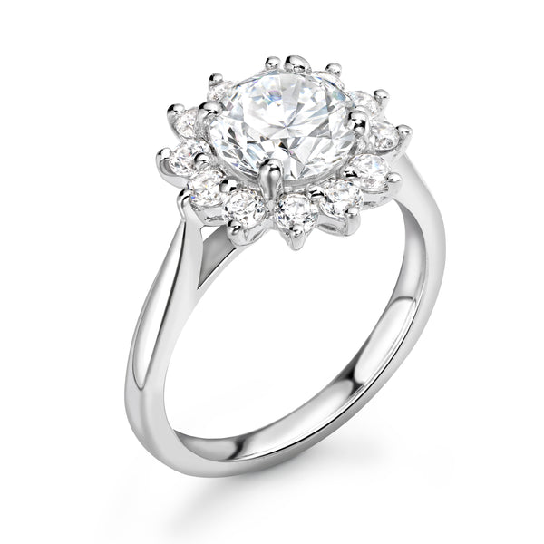 Cora - Round Brilliant Halo Ring