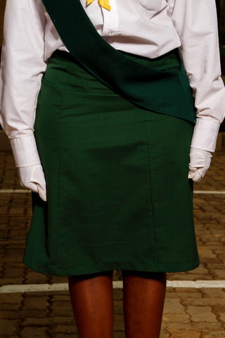 Bottle Green 6 Panel Skirt