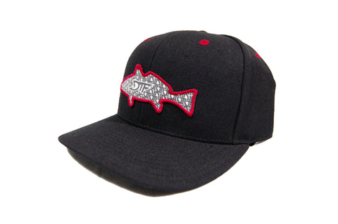 Repetition Drum Black/Red Snapback