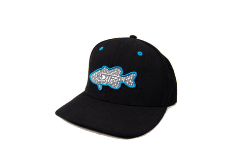 Repetition Bass Black/Blue Snapback