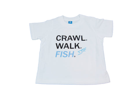 Crawl. Walk. Fish. Toddlers Tee