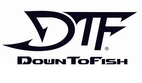 DTF Down To Fish Decal 10.5""