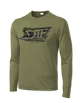 American Performance Polyester L.S OD Green