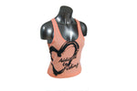 Women's Heart Tank Top Coral