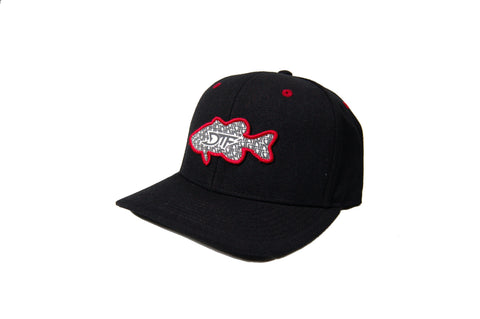 Repetition Bass Black/Red Snapback