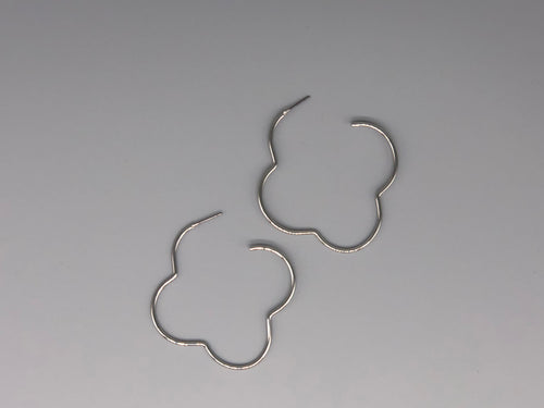 Clover Clover Bring These Earrings Right Over - Silver