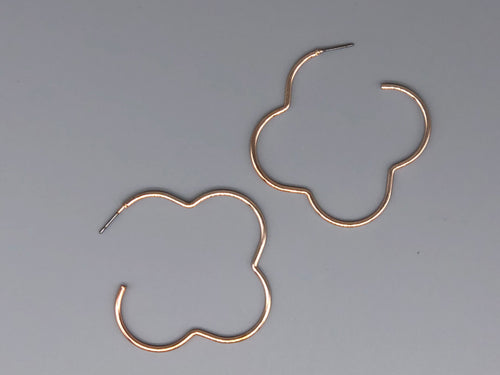 Clover Clover Bring These Earrings Right Over - Rose Gold