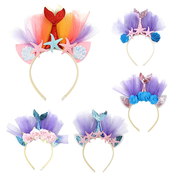 Little Mermaid party crown hairband