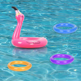 Inflatable flamingo head ring game - Socialness