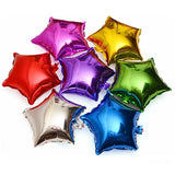 Star foil balloon set - 10 pieces - Socialness