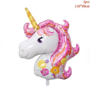 Giant unicorn head foil balloon - Socialness