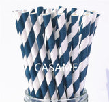 Candy coloured biodegradable drinking straws - 100 pieces! - Socialness