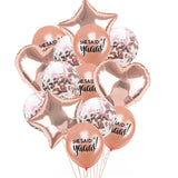 She said yaaas! rose gold balloon set - 14 pieces - Socialness