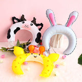 Animal foil balloon headbands - 10 pieces - Socialness