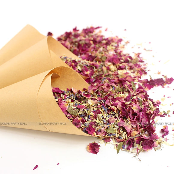 100% natural dried flower wedding confetti - Socialness