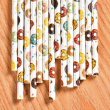 Donut biodegradable drinking straws - 25 pieces - Socialness