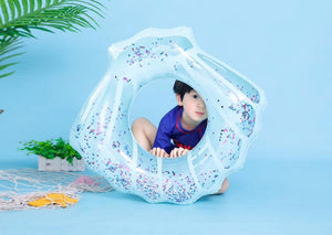 Sequin shell inflatable swimming ring - Socialness
