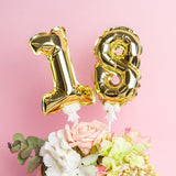 Number foil balloon cake toppers - Socialness