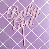 Baby boy/ girl acrylic cake toppers - Socialness