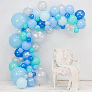 Aqua blue balloon garland kit - 98 pieces