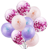 Little mermaid confetti latex balloon set - 10 pieces