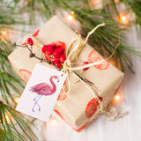 Flamingo paper gift tags - 50 pieces - Socialness