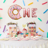 Donut party 1st Birthday balloons - Socialness