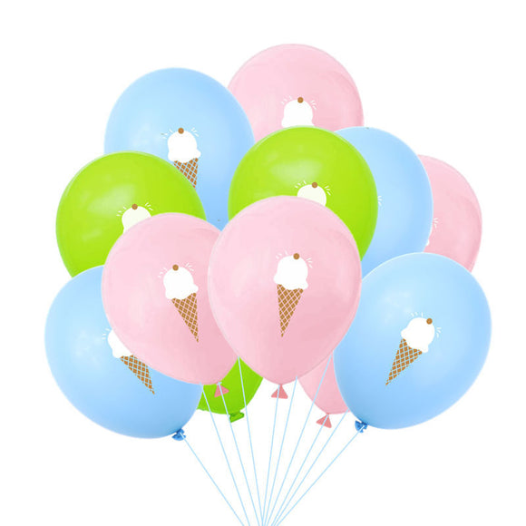 Pastel ice cream latex balloons - 10 pieces - Socialness