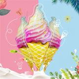 Giant rainbow ice cream foil balloon - 10 PIECES! - Socialness