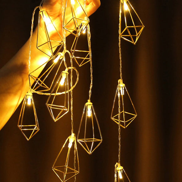 Rose gold diamond LED string light - Socialness