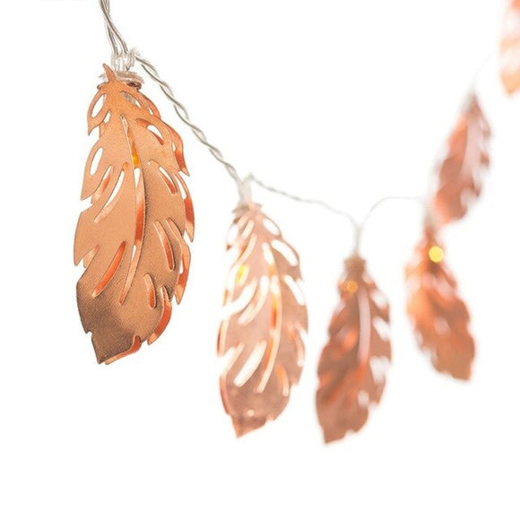 Rose gold Nordic LED string lights - Socialness