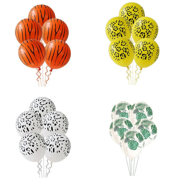 Animal print latex balloon sets - Socialness