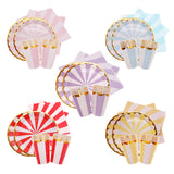 Candy stripe party set - serves 10 (40 pieces) - Socialness