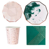 Green & pink party set - serves 8 (40 pieces) - Socialness