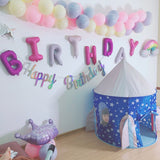 Iridescent Happy Birthday banner - Socialness