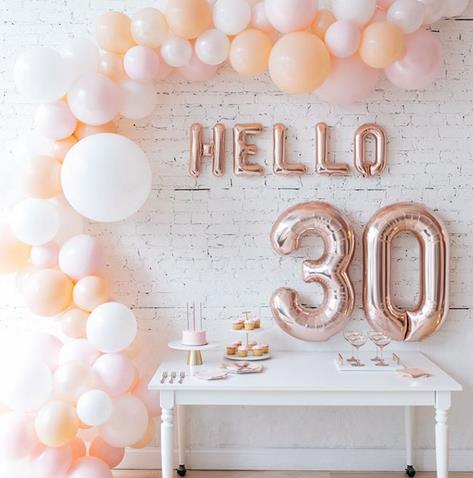 Hello 30 foil balloon set - Socialness