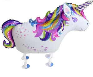 Walking unicorn foil balloons - 2 pieces - Socialness