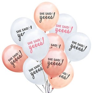 She said yes! latex balloon set - 10 pieces - Socialness
