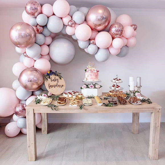 Pastel macaron candy balloon garland kit - 87 pieces