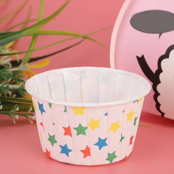 Stars & dots cupcake cases - 50/100 pieces