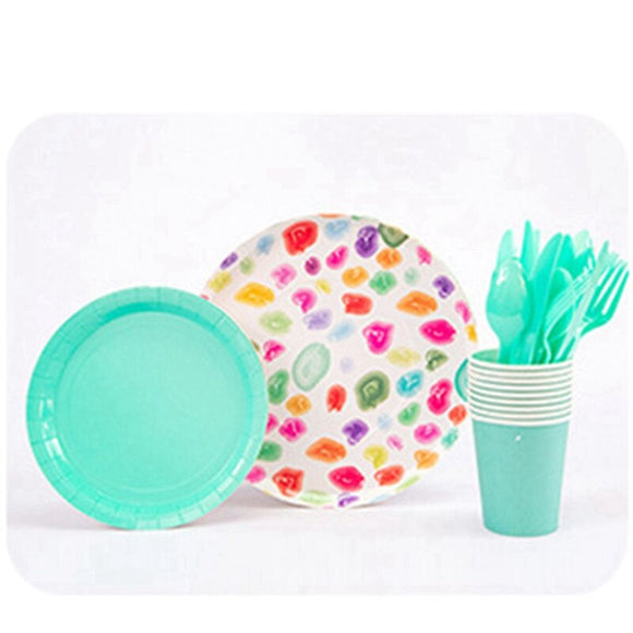 Gummy sweets party tableware set - serves 8 (40 pieces)