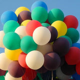Jumbo colourful latex balloons - 5 pieces