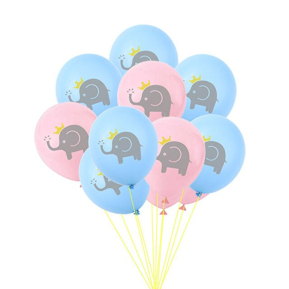 Baby elephant balloon set - 10 pieces