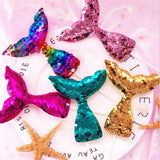Mermaid tail sequin cake toppers - 3 pieces