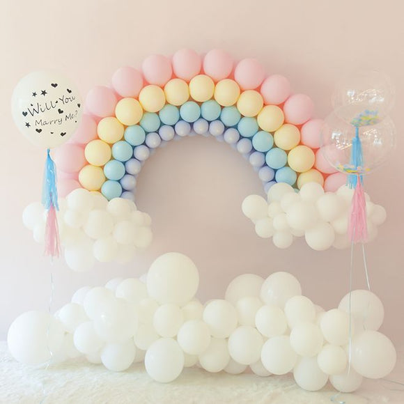 Pastel rainbow balloon garland - 50 pieces