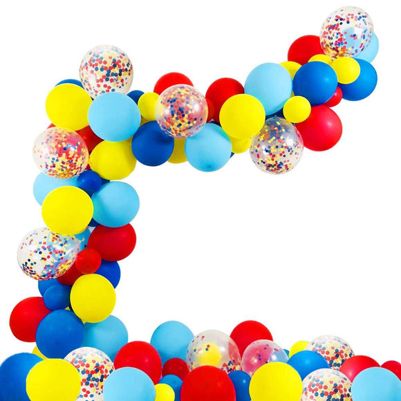 Circus party balloon garland kit - 80 pieces