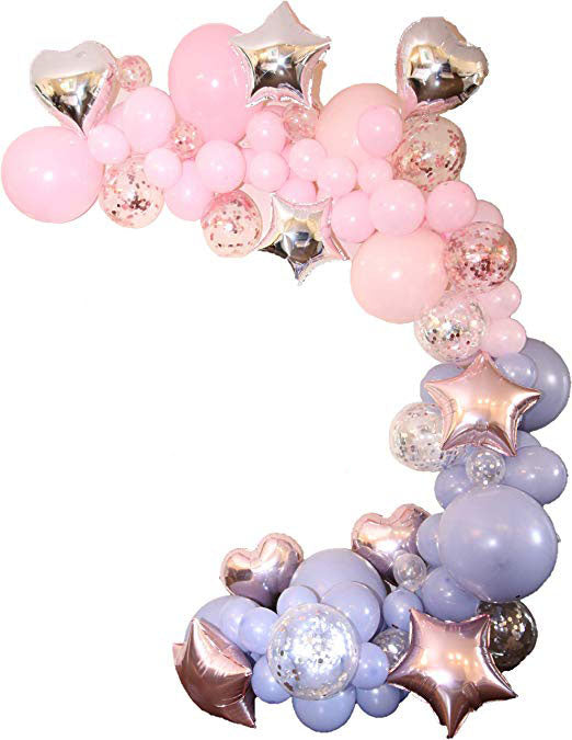 Fairy princess balloon garland kit - 111 pieces