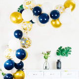 Navy blue gold balloon garland kit - 100 pieces